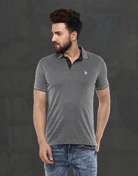Grey Polo T-Shirts MFK-6178-E