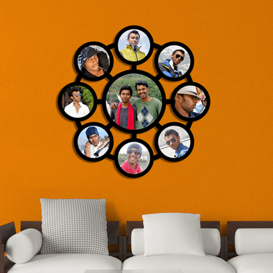 9 Photos Collage Frame -Round (A) at Rs 2800 /piece   कोलाज ...
