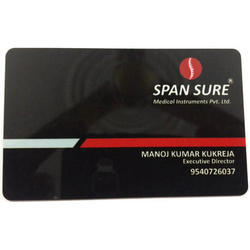 Black PVC Visiting Cards