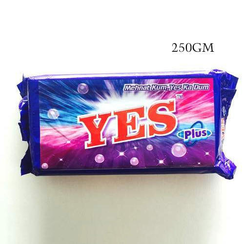 250 g Yes Plus Blue Detergent Cake, Shape: Rectangle
