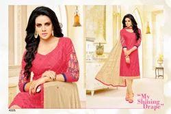3/4 Sleeve Sayra Salwar Suit Fabric