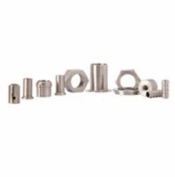 Silver High Precision CNC Component