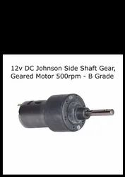 12v DC Johnson Side Shaft Gear, Geared Motor 500 rpm - B Grade