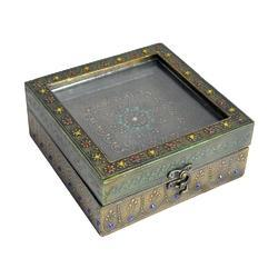 Vintage Dry Jewellery Box Glass Cover