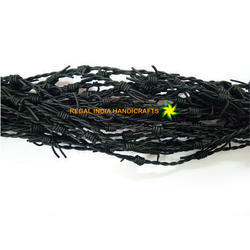 Black Barbwire Leather Cord