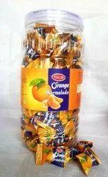 12 Months Round Tulsi Orange Jelly Candy, Packaging Type: Plastic Jar