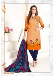 Regular Cotton Priyakala Fancy Colorful Printed Suit
