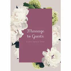Kraft Paper Wedding Invitation Cards