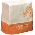 White Orange Paper Tissue, For Home, Packaging Type: Packet