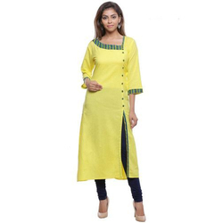Plain XL & XXL Slit Cotton Kurti