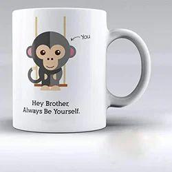 Custom Ceramic White Mug Printing Service, Size: 11 Oz, Dimension / Size: 11 Oz