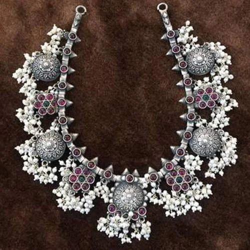7a0e1e8bda1 Ethnic Silver Ladies Silver Necklace, Rs 25000 /piece, Indian ...