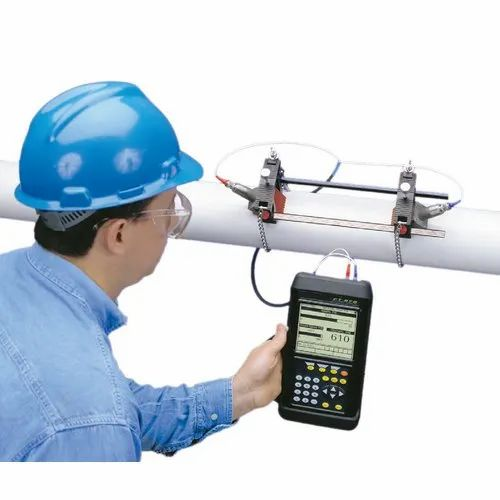 Portable Clamp On Ultrasonic Liquid & Gas Flow Meter