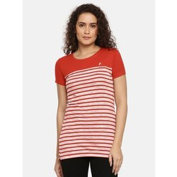 95%Viscose And 5% Cotton Half Sleeve Ladies Round Neck T Shirt
