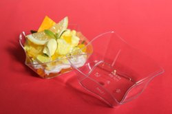 PS 24 Disposable Square Waves Dessert Cup