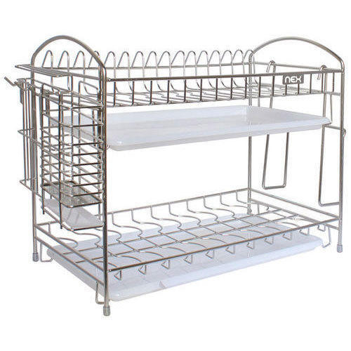 Stainless Steel Kitchen Plate Rack, Load Per Layer: 50 100 Kg
