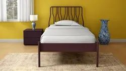 Metal Single Size Bed with Head Board