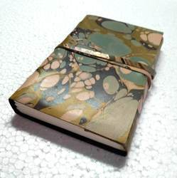 Printed Leather Bound Writing Journal Notebook