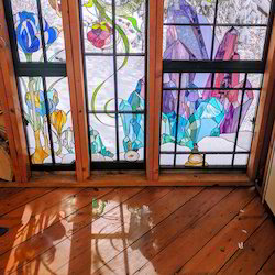 Multicolor Stained Window Glass