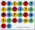 Blue And Red Plastic Alphabet Pairing Set (capital-to-capital)
