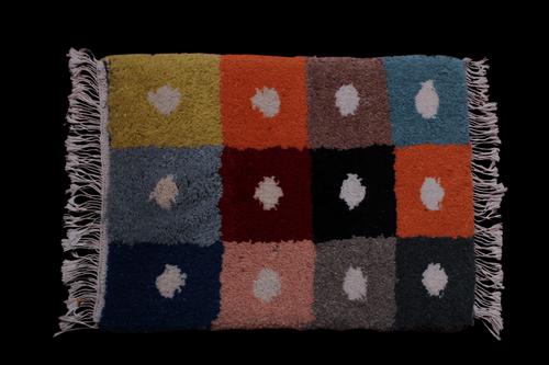 Multicolor Woollen Doormat Carpets Lepakshi Handicrafts Emporium