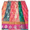 Casual Wear Floral Print Assorted Color Ladies Cotton Saree, 6.25 M (with Blouse Piece)