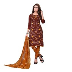 Women Wear Bandhani Dress Material