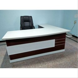 White for Office Wooden Rectangular Executive Desks.