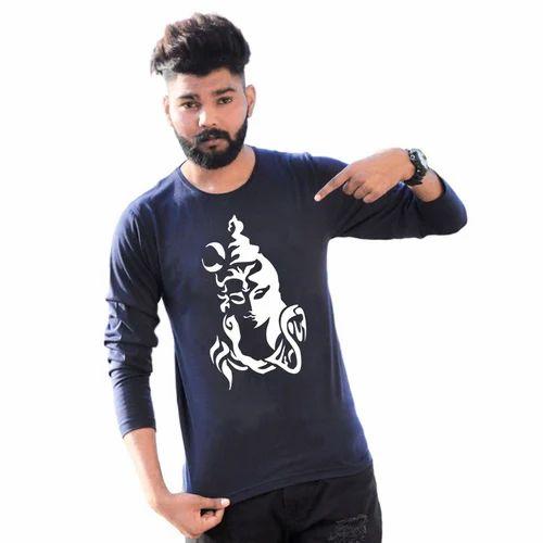 0f325884e5 Men's Cotton Full Sleeve Designer T Shirt, Size: S-XXL, Rs 240 ...