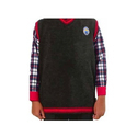 Grey Woollen Kendriya Vidyalaya Sweaters And Cardigans