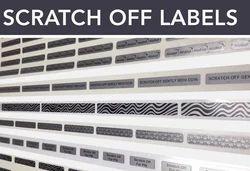 Custom Made Hologram Scratch Labels, Packaging Type: Standard