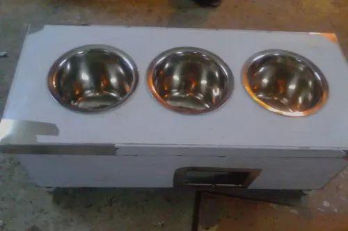 Balaji Engineering Silver 3 Round Pots Bain Marie