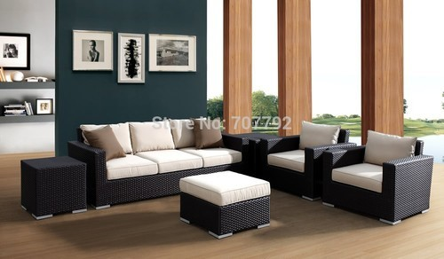 Indoor Wicker Rattan Sofa Set