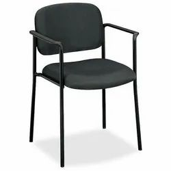 Paint Coated Black Wrought Iron Chair, For Cafe