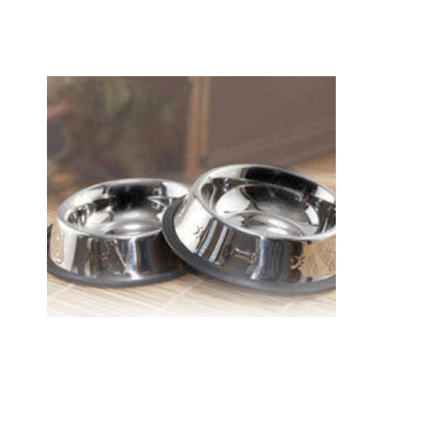 Stainless Steel Non Tip Pet Bowls With Anti-Skid Ring, For Home Purpose
