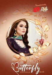 Rutu Creation Butterfly Vol-5 Patiyala Printed Cotton Dress Material Catalog Collection