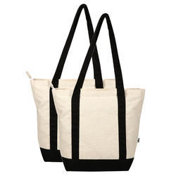 Plain and Printed Coloured Cotton Bags, Size: 18X14X7 Inch
