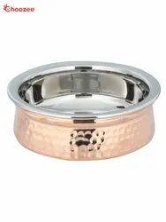 Copper / Stainless Steel Serving Handi (350 Ml)