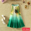 Digital Printed Crepe Long Skirt