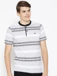 Men's Henley Neck Cotton T-Shirt