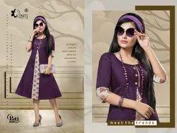 Pari Vol 5 By Kinti Handloom Cotton Flair Style Casual Wear Kurti