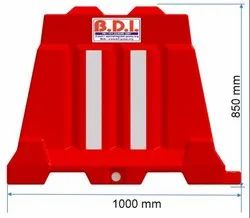 Plastic BDI Red Road Barrier