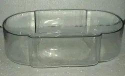 Transparent Polished Glass Oval Tray