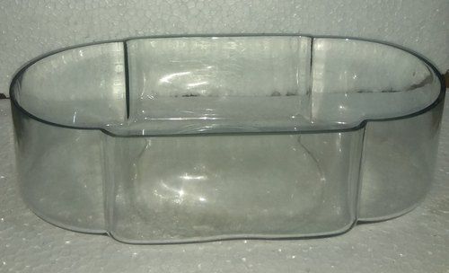 Transparent Polished Glass Oval Tray