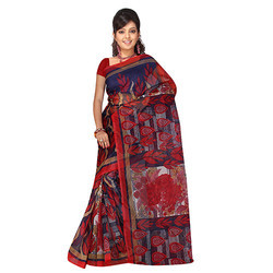 Ladies Printed Kota Doria Saree