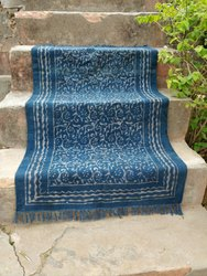Rectangular Multicolor Block Printed Cotton Rugs, Size: 3x5 Feet