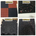 Rubber Tiles With EPDM Rubber Fleckers