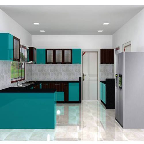 Modular Kitchen Designs Indian Homes: Laminated Modular Kitchen At Rs 690 /square Feet