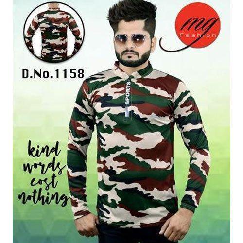 e92e8398 Mens Cotton Army Print T-Shirt, Size: S, Rs 110 /piece, Munnu ...