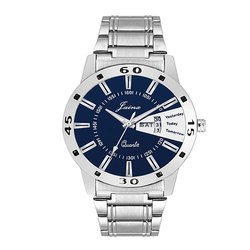 Jainx Day and Date Blue Dial Analog Watch for Men & Boys JM285